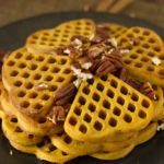 Five a Month: Pumpkin Waffles with Honey Cinnamon Syrup